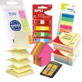 Самозалепващи листчета и кубчета, индекси