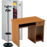 Бюра, метални шкафове, стелажи и аксесоари