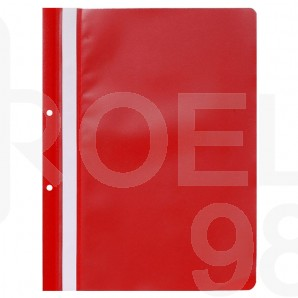 Папка PVC с прозрачно лице и перфорация Gera-Folien, A4