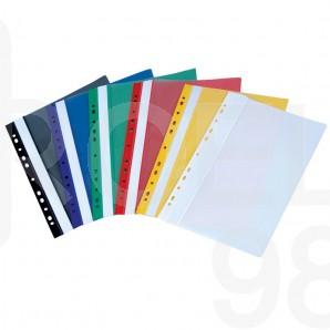 Папка PVC с прозрачно лице и европерфорация Gera-Folien, A4