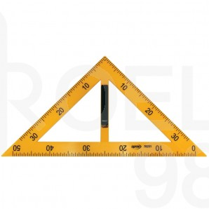 Триъгълник училищен 40x40x56 см, 45°