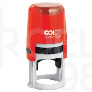 Печат Colop Printer R30, Ǿ30 мм., черен, син, червен