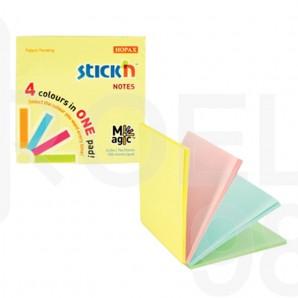 Самозалепващи листчета Stick`N, пастел, 76 x 76 мм, 4 цв.