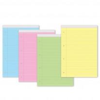 Блокнот, микро-перфорация, цветен офсет, редове, А4, 40 л.