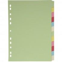 Разделител c eвроперфорация, картон, 20 цвята