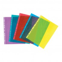 Папка джоб с европерфорация, A4, цветна, 50μ