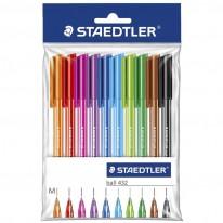Комплект химикалки Staedtler 432 М, 10 цвята