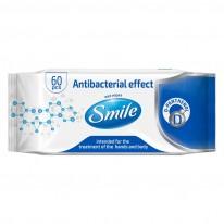 Антибактериални кърпи Smile с D-пантенол, 60 броя