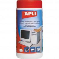 Почистващи влажни кърпи Apli за офис техника, в PVC кутия