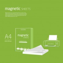 Листчета Magnetic Sheets, А4, 50 листа/опаковка, бели